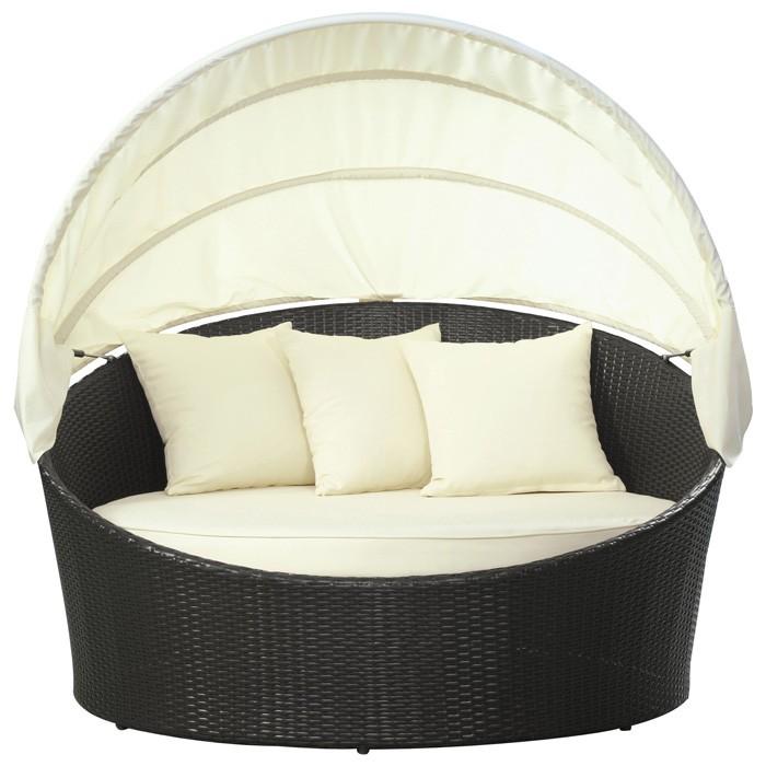 Siesta Outdoor Rattan Canopy Bed Dcg Stores
