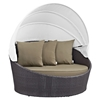 Siesta Canopy Outdoor Patio Daybed - EEI-642-EXP
