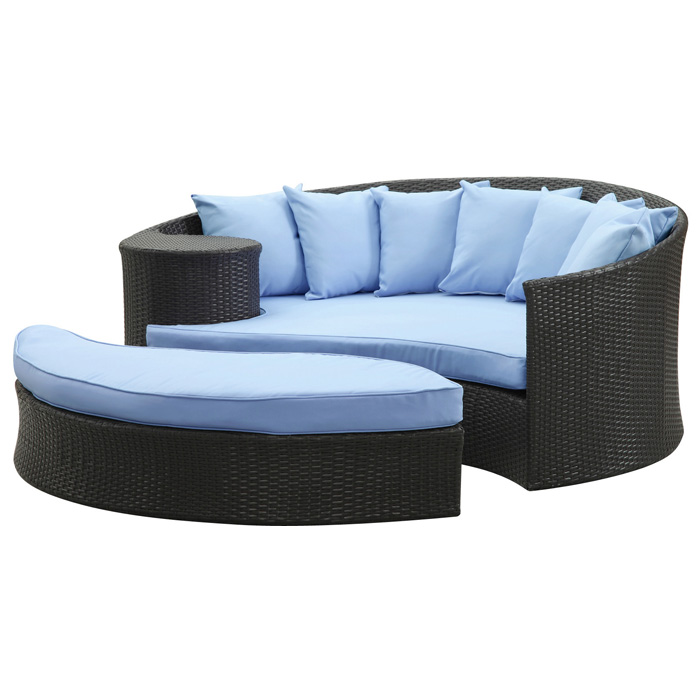 Taiji Outdoor Daybed Set - Espresso Frame