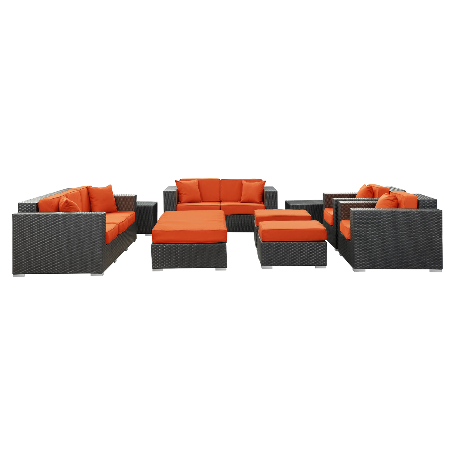 Maui Espresso Outdoor Living Set - EEI-647-EXP