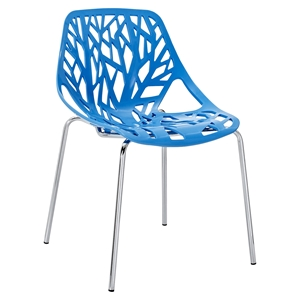 Stencil Dining Side Chair - Blue