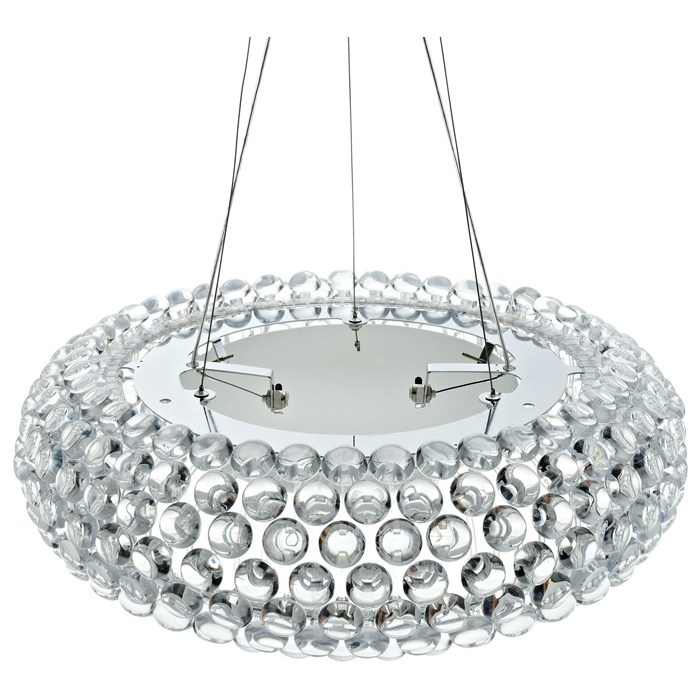 "Acrylic Crystal 25"" Halo Chandelier"