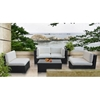 Camfora 5 Piece Outdoor Patio Living Set - Espresso Frame - EEI-694-EXP
