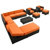 Fusion Outdoor Chaise Sectional Set - Espresso Frame - EEI-722-EXP