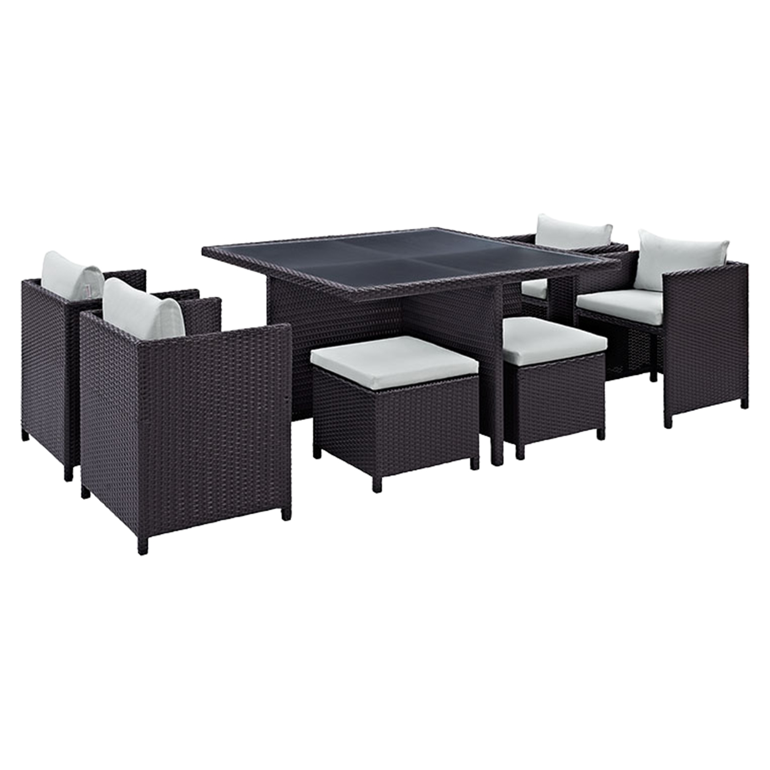 Inverse 9 Pieces Outdoor Patio Dining Set - EEI-726-EXP
