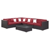 Lambid 7 Pieces Outdoor Patio Wicker Sectional Set - EEI-730-EXP-SET