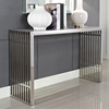 Gridiron Console Table - Stainless Steel - EEI-779-SLV