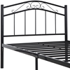 Townhouse Twin Iron Bed - Scrolls, Black - EEI-798