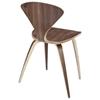 vortex molded plywood stackable chair dark walnut dcg stores