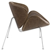 Nutshell Leatherette Lounge Chair - Brown - EEI-809-BRN