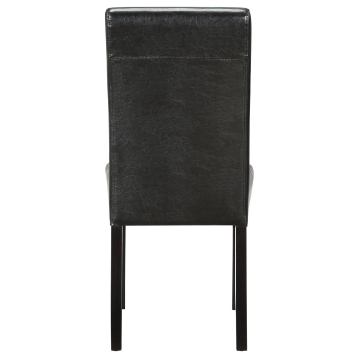 Compass Upholstered Dining Chair - Wood Legs, Black - EEI-810-BLK