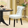 Silhouette On Tufted Dining Chair Wood Legs White Eei 812 Whi