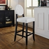 Button Bar Stool - White - EEI-816-WHI