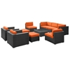 Avia 10 Piece Patio Living Set - Espresso Frame - EEI-826-EXP