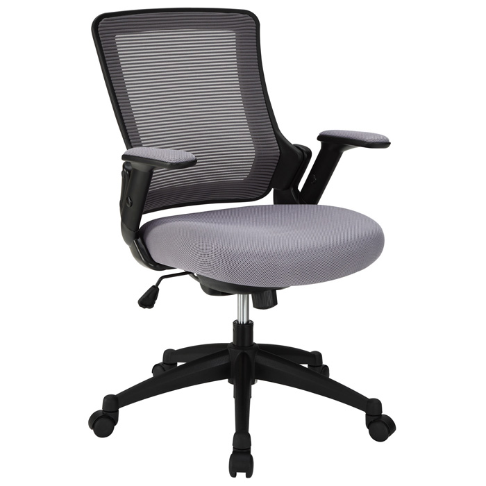 Aspire Office Chair - Mesh, Adjustable Arms, Gray - EEI-827-GRY
