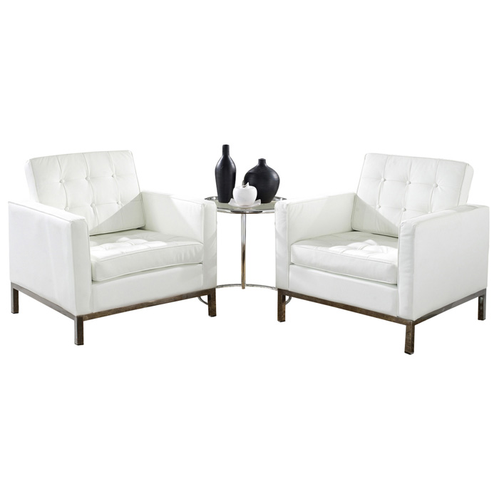 loft sitting room set eileen gray table leather chairs white