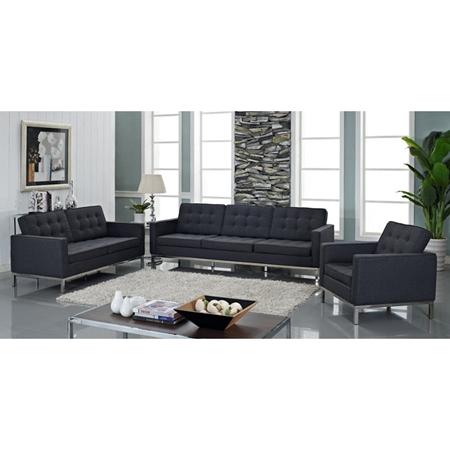 Loft 4 Piece Wool Living Room Set Eileen Gray Table Dark Gray Dcg Stores