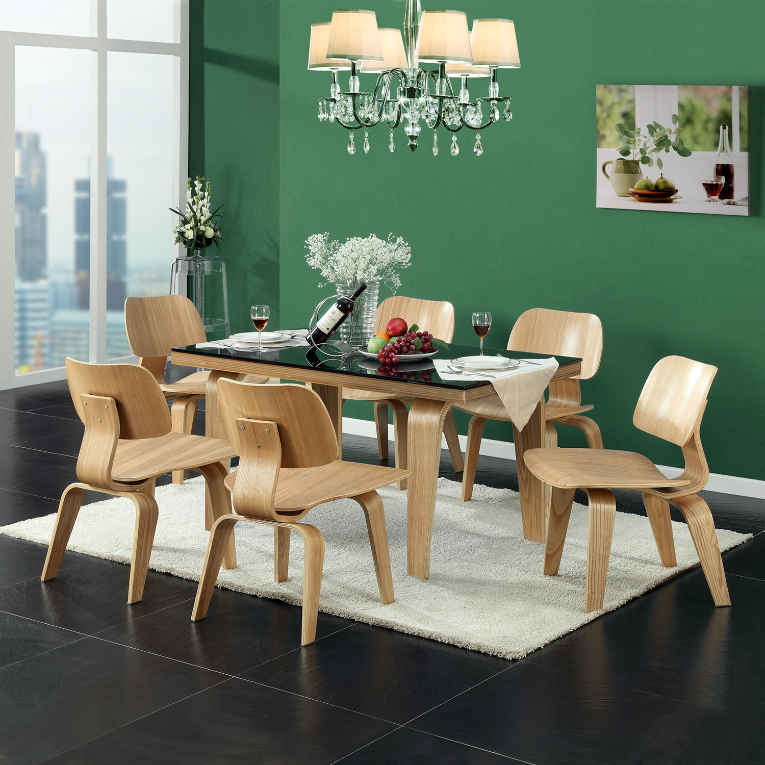 Fathom Wood Dining Chairs - Natural (Set of 2) - EEI-870-NAT