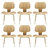 Fathom Wood Dining Chairs - Tan (Set of 6) - EEI-910-NAT
