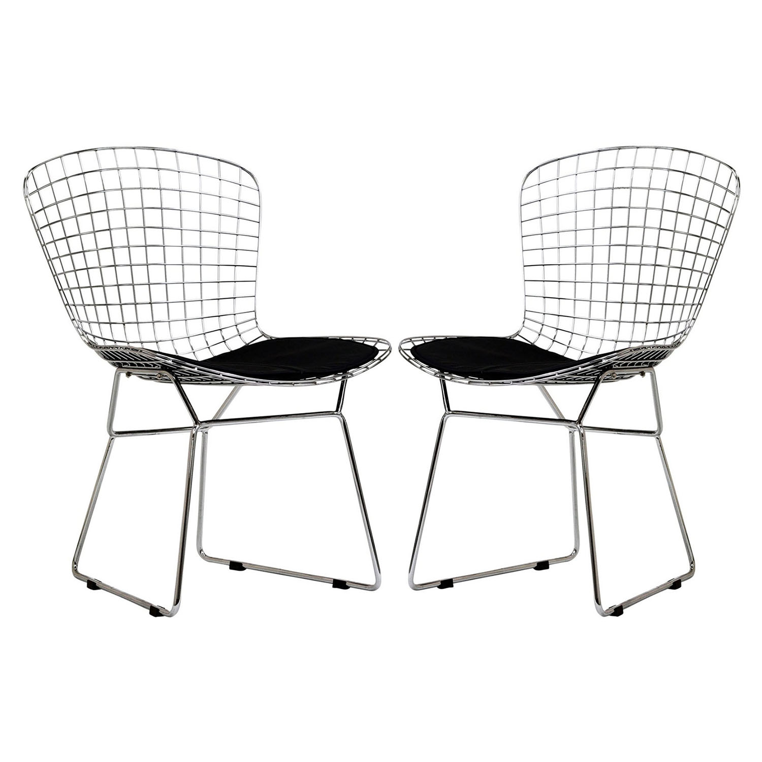 CAD Dining Chair - Armless, Black (Set of 2) - EEI-925-BLK