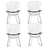 CAD Dining Chair - Black, Armless (Set of 4) - EEI-926-BLK