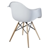 Pyramid Dining Armchairs - White (Set of 2) - EEI-929-WHI