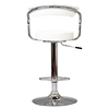Diner Faux Leather Bar Stools - White (Set of 2) - EEI-930-WHI
