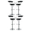 Diner Bar Stool - Black, Swivel (Set of 4) - EEI-932-BLK