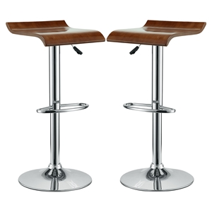 Bentwood Bar Stool - Oak (Set of 2)