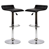 Gloria Leatherette Bar Stools - Black (Set of 2) - EEI-937-BLK