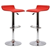 Gloria Leatherette Bar Stools - Red (Set of 2) - EEI-937-RED