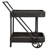 Replenish Outdoor Wicker Beverage Cart - Espresso - EEI-970-EXP