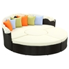 Quest 4 Piece Patio Canopy Daybed Set - Multicolored Pillows - EEI-983-EXP-WHI-SET