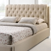 Amelia Fabric Bed - Button Tufted, Beige - EEI-5-BEI-SET-AMELIA