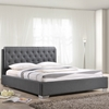 Amelia Fabric Bed - Button Tufted, Gray - EEI-5-GRY-SET-CAITLIN