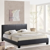 Alex Faux Leather Bed - Platform, Black - EEI-5-BLK-SET