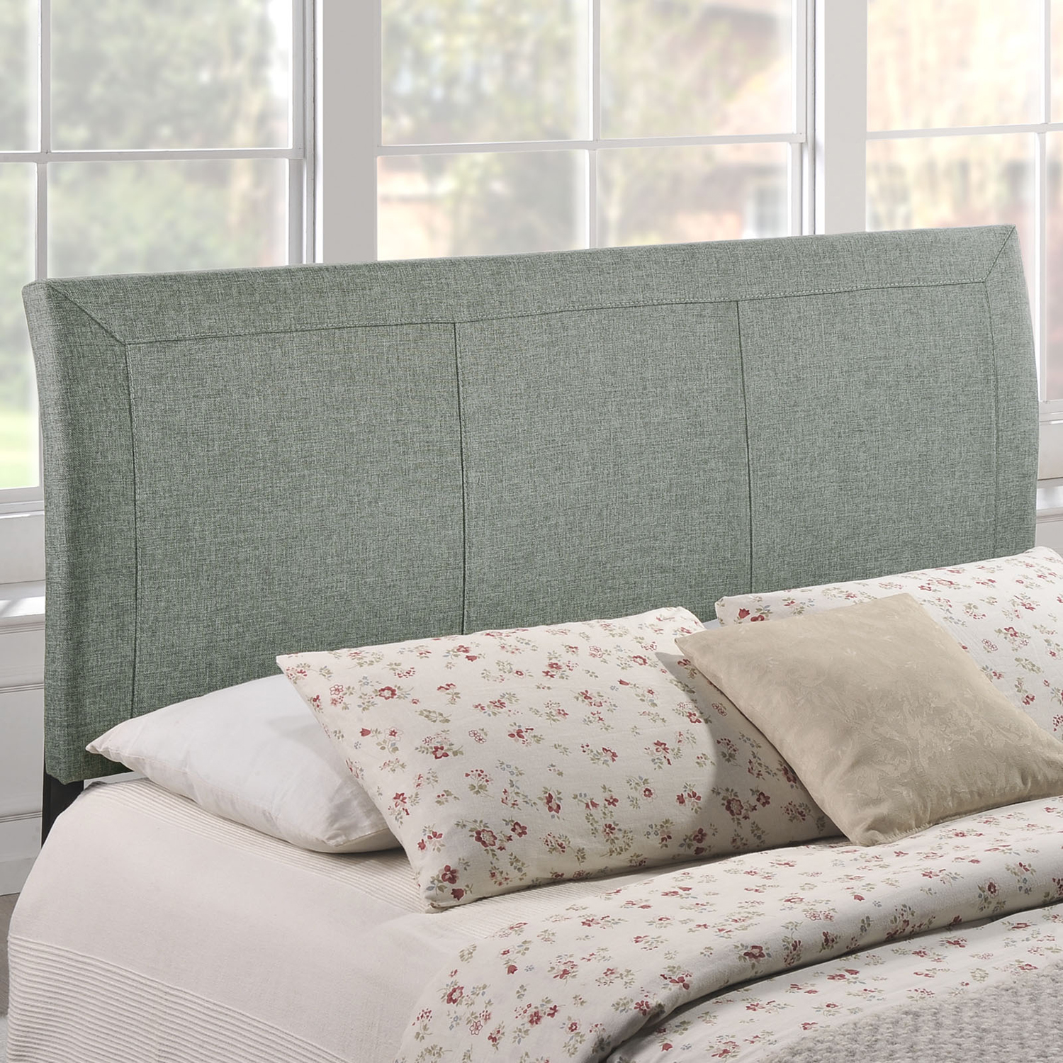 Isabella Upholstery Queen Headboard - Gray - EEI-MOD-5043-GRY