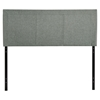 Isabella Upholstery Queen Headboard - Gray - EEI-5043-GRY