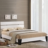 Zoe Queen Faux Leather Bed - White - EEI-5128-WHI
