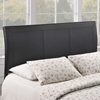 Isabella Queen Leatherette Headboard - Black - EEI-MOD-5132-BLK