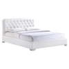 Amelia Faux Leather Bed - White - EEI-51-WHI-BED