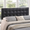 Lily Tufted Leatherette Headboard - Black - EEI-51-BLK