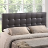 Lily Tufted Leatherette Headboard - Brown - EEI-MOD-51-BRN
