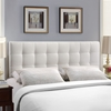 Lily Tufted Leatherette Headboard - White - EEI-51-WHI