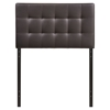 Lily Twin Leatherette Headboard - Tufted, Brown - EEI-5149-BRN
