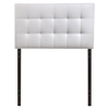 Lily Twin Leatherette Headboard - Tufted, White - EEI-5149-WHI