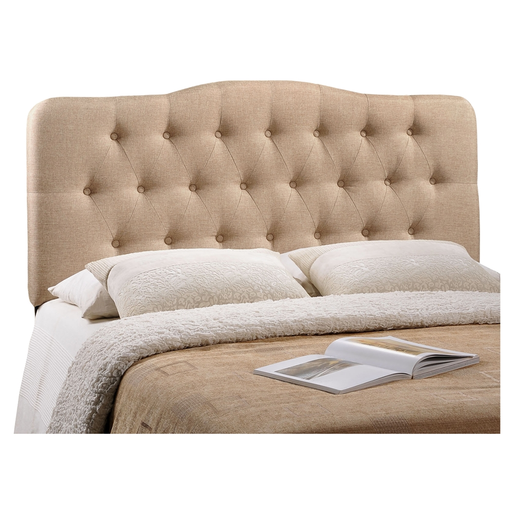 Annabel Button Tufted Fabric Headboard Dcg Stores