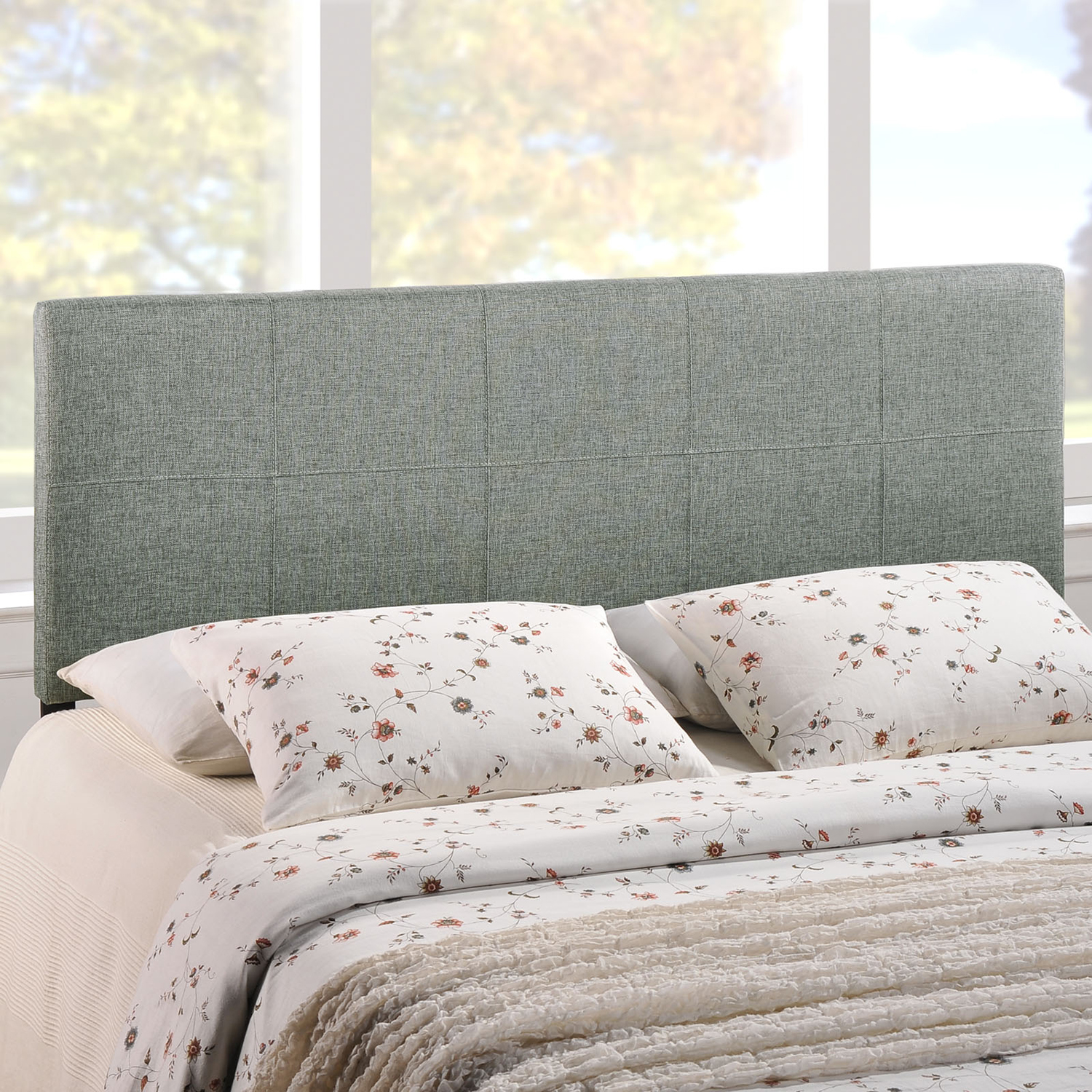Oliver Fabric Headboard - Gray - EEI-MOD-5-GRY-OLIVER