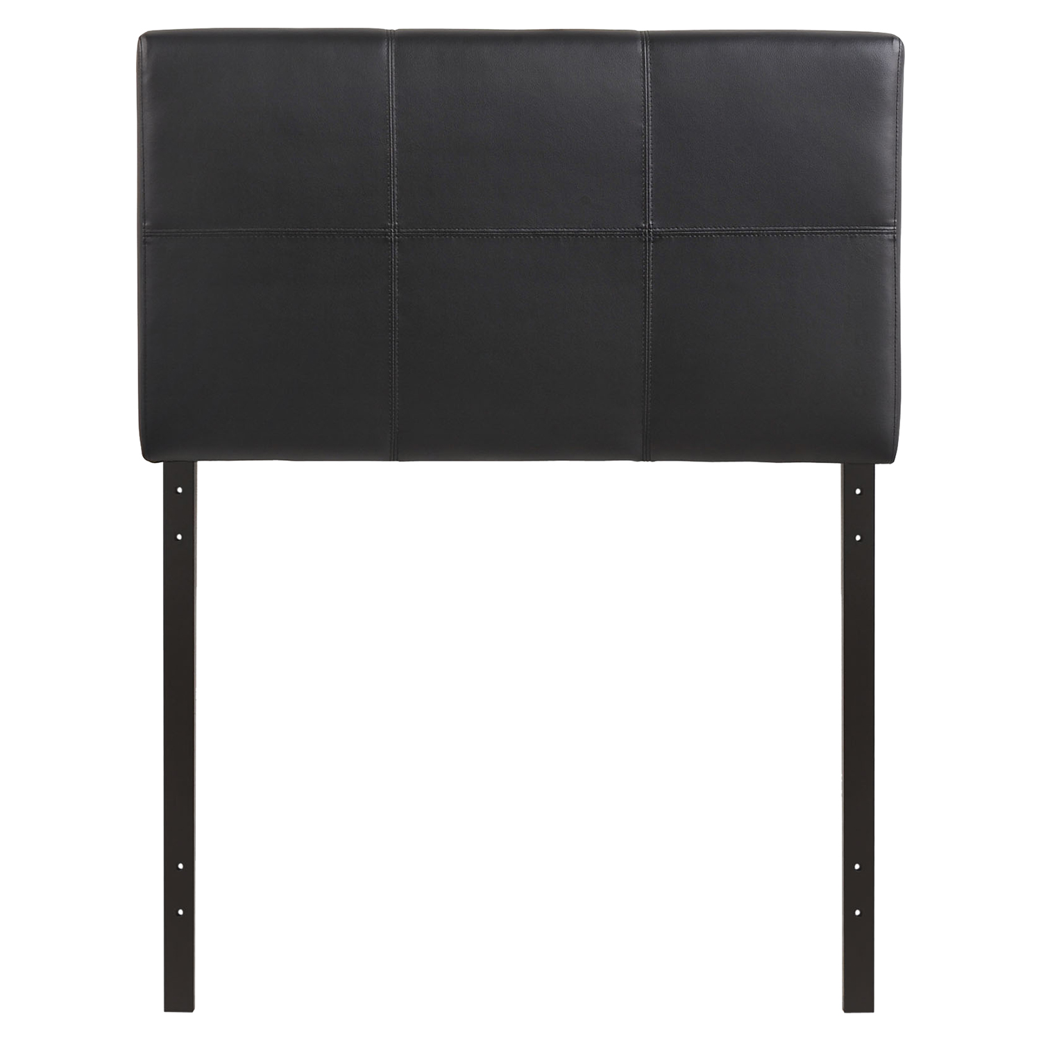 Oliver Twin Leatherette Headboard - Black - EEI-MOD-5153-BLK