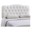 Annabel Leatherette Headboard - Button Tufted, White - EEI-MOD-515-WHI